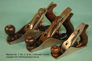 Stanley No. 1, 2, and 3 Smooth Planes