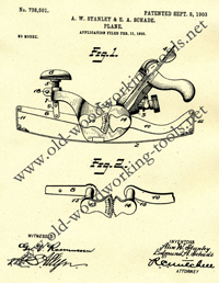 Stanley 113 Compass Plane Patent Application