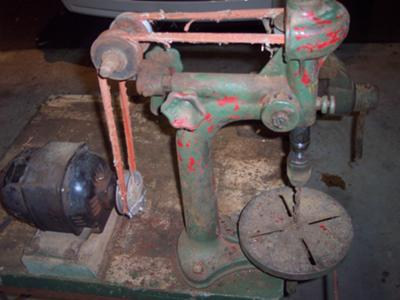 Antique Drill Press - Unknown Brand