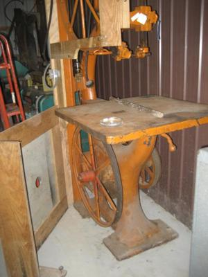Big Old Orange Band Saw C.E. Wright Mtf.
