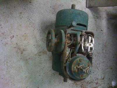 top view Oliver lathe motor