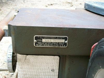Sears Craftsman Jointer
