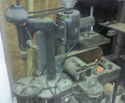 Vintage Delta Scroll Saw/grinder with a Delta Drill Press
