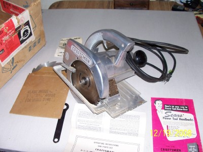 Sears Industrial power hand saw. Still in Box with Manuals