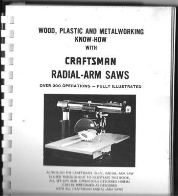 1969 Craftsman Radial Arm Saw