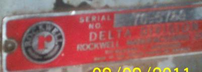 Delta Machinery Tag