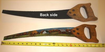 Double Edged Curved Hand Saw