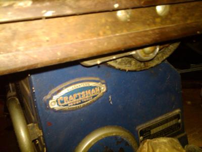 Vintage Craftsman Table Saw ~ Model 103.0206