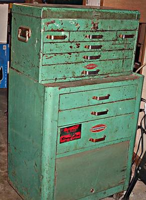 Vintage Craftsman Two Piece Rolling Tool Cabinet
